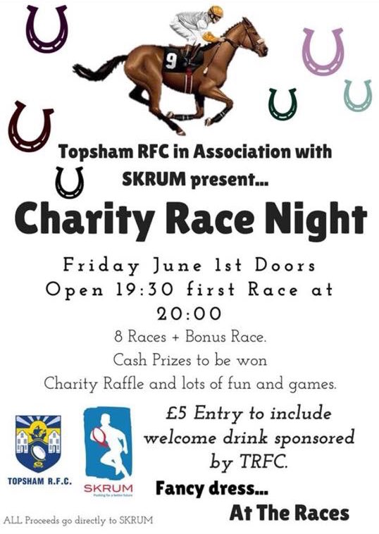 Poster of Topsham Race Night event