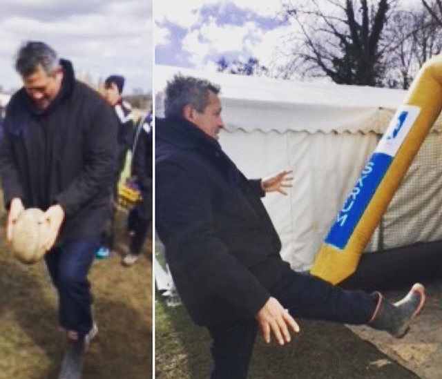 Zinzan Brooke takes on rugby challenge