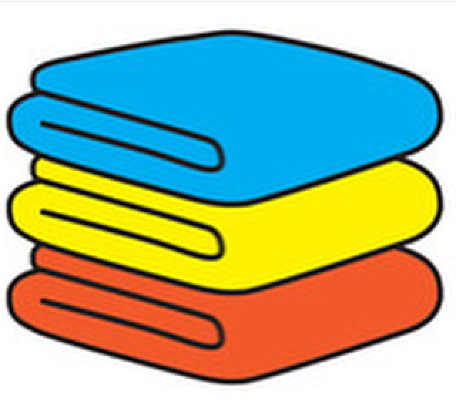 Primary coloured towels