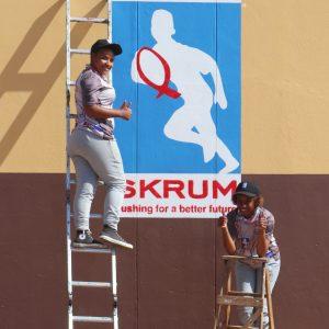Girls painting logo