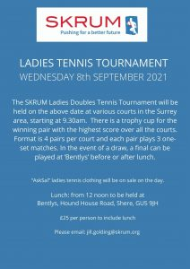 Poster for tennis tournament